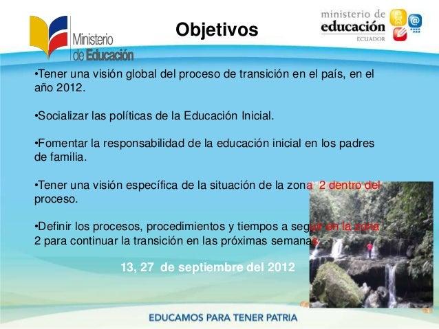 Objetivos13, 27 de septiembre del 2012•Tener una visión global del proceso de transición en el país, en elaño 2012.•Social...