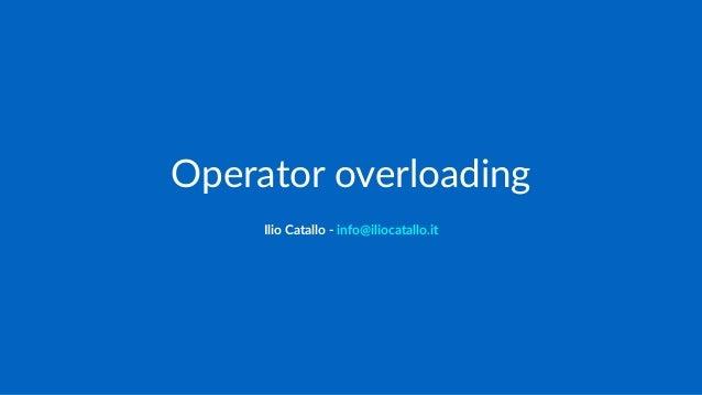 C++ Programming/Operators/Operator Overloading