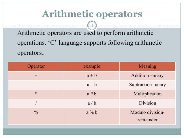 Operators Computer Programming And Utilzation
