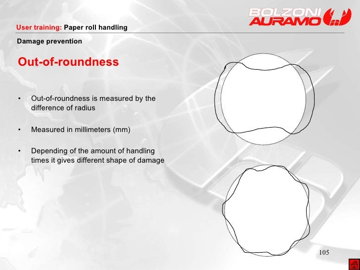 • Out-of-roundness is measured by the difference of radius • Measured in millimeters (mm) • Depending of the amount of han...