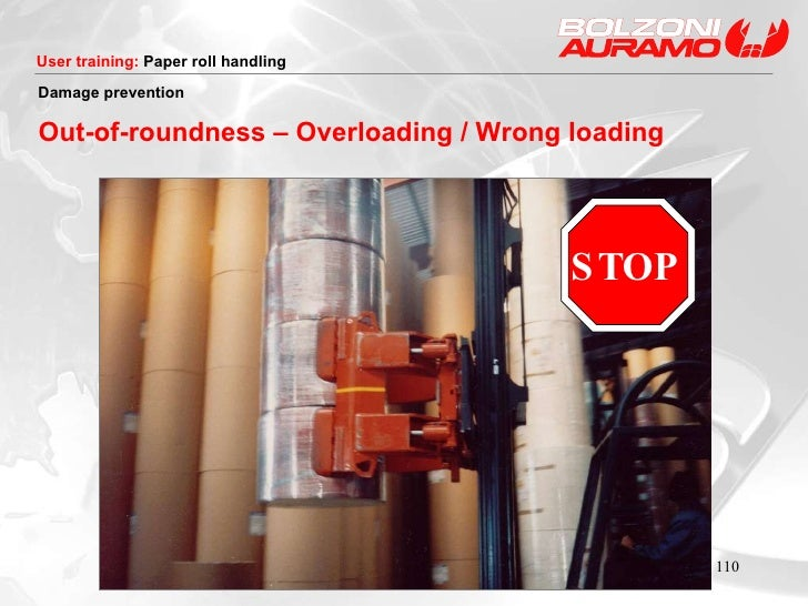 Damage prevention Out-of-roundness – Overloading / Wrong loading STOP
