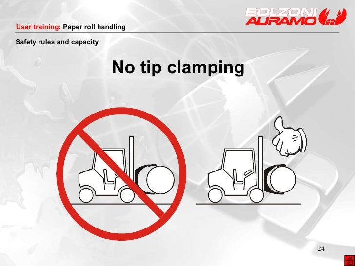 <ul><li>No tip clamping </li></ul>Safety rules and capacity