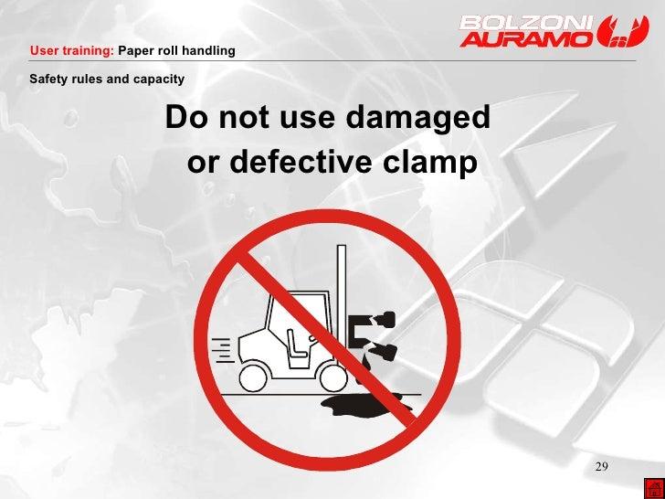 <ul><li>Do not use damaged  </li></ul><ul><li>or defective clamp </li></ul>Safety rules and capacity