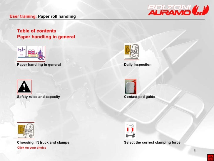 Table of contents Paper handling in general Paper handling in general  Daily inspection Safety rules and capacity  Contact...