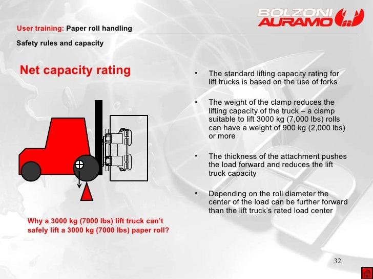 Net capacity rating <ul><li>Why a 3000 kg (7000 lbs) lift truck can't  </li></ul><ul><li>safely lift a 3000 kg (7000 lbs) ...