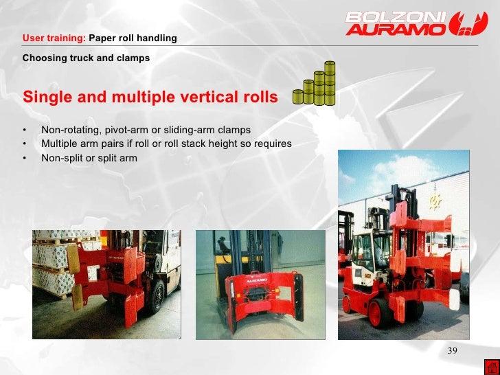 <ul><li>Single and multiple vertical rolls </li></ul><ul><li>• Non-rotating, pivot-arm or sliding-arm clamps </li></ul><ul...