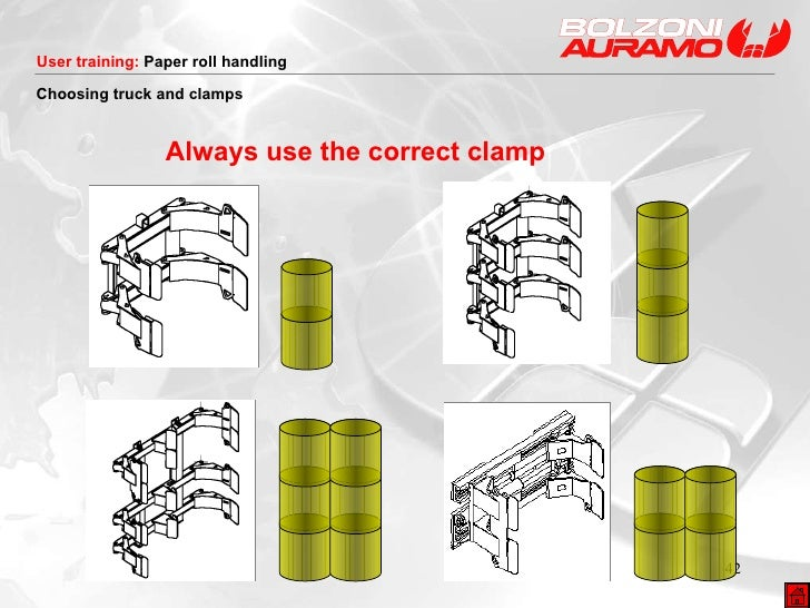 Always use the correct clamp Choosing truck and clamps