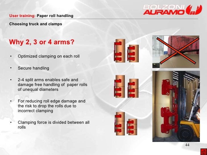 <ul><li>Optimized clamping on each roll </li></ul><ul><li>Secure handling </li></ul><ul><li>2-4 split arms enables safe an...