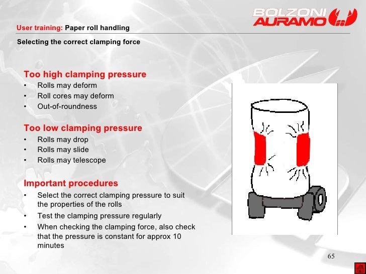 <ul><li>Too high clamping pressure </li></ul><ul><li>• Rolls may deform </li></ul><ul><li>• Roll cores may deform </li></u...