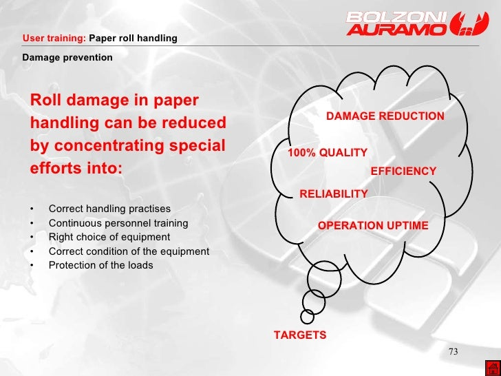 <ul><li>Roll damage in paper </li></ul><ul><li>handling can be reduced </li></ul><ul><li>by concentrating special </li></u...