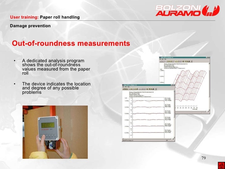 Out-of-roundness measurements <ul><li>A dedicated analysis program shows the out-of-roundness values measured from the pap...
