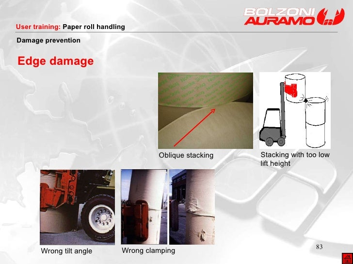 Stacking with too low lift height Damage prevention Edge damage Wrong tilt angle Wrong clamping Oblique stacking