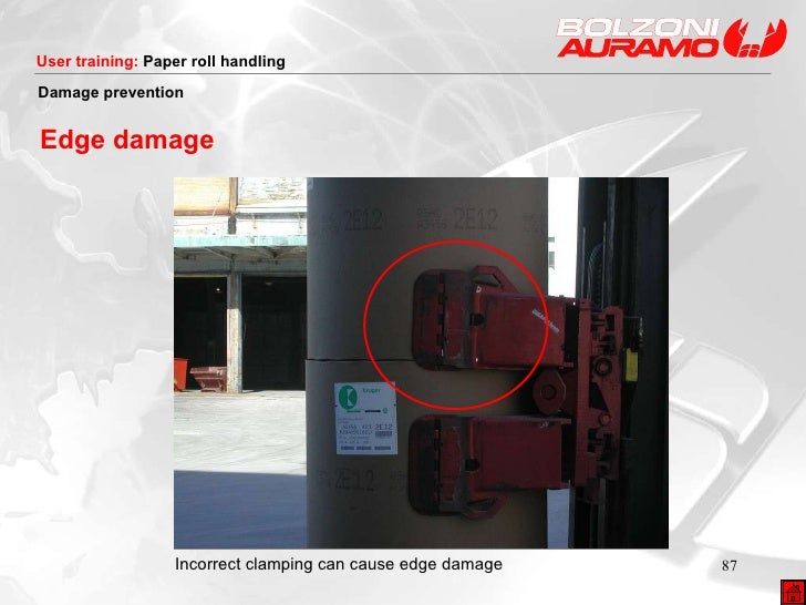 Incorrect clamping can cause edge damage Damage prevention Edge damage