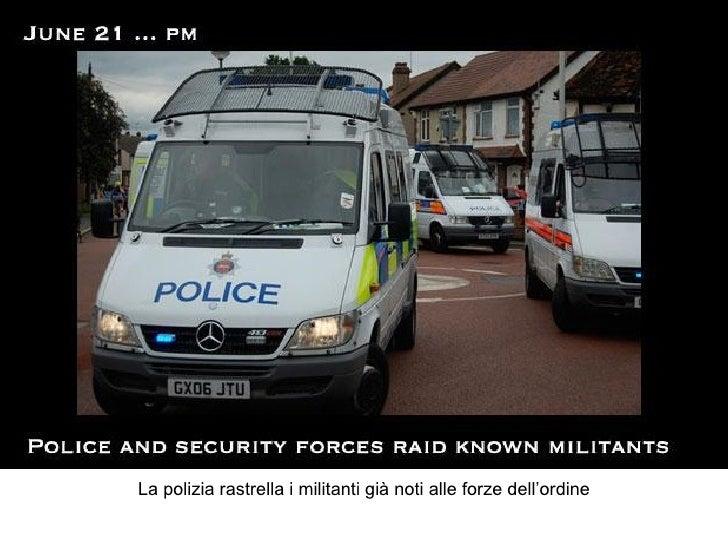 La polizia rastrella i militanti già noti alle forze dell'ordine