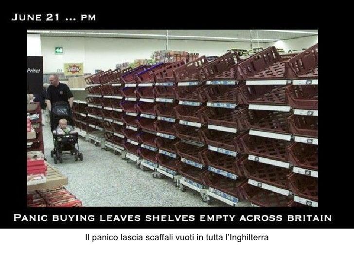 Il panico lascia scaffali vuoti in tutta l'Inghilterra