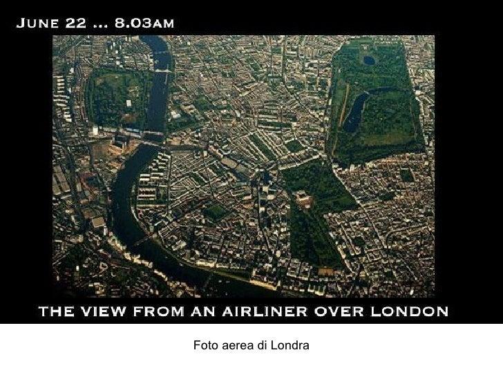 Foto aerea di Londra