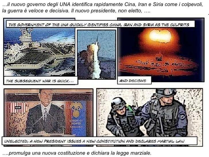 … il nuovo governo degli UNA identifica rapidamente Cina, Iran e Siria come i colpevoli, la guerra è veloce e decisiva. Il...