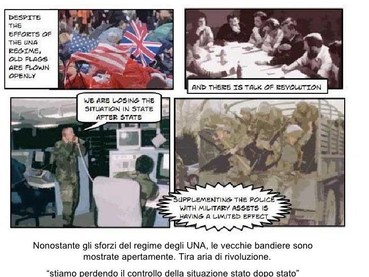 """Nonostante gli sforzi del regime degli UNA, le vecchie bandiere sono mostrate apertamente. Tira aria di rivoluzione.  """" st..."""