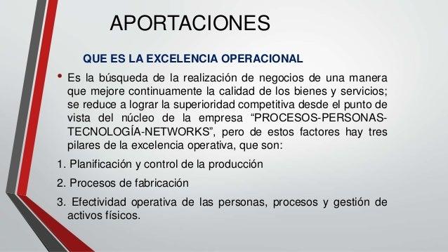 opex excelencia operacional
