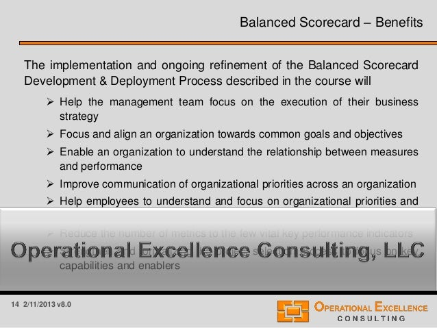 balanced scorecard module Module 3: developing balanced scorecard performance  measures  module 5: integrating the balanced scorecard into  the.