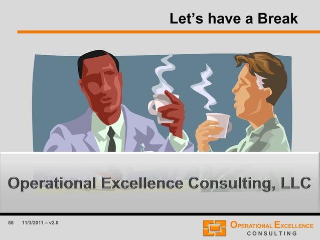 88 11/3/2011 – v2.0 Let's have a Break