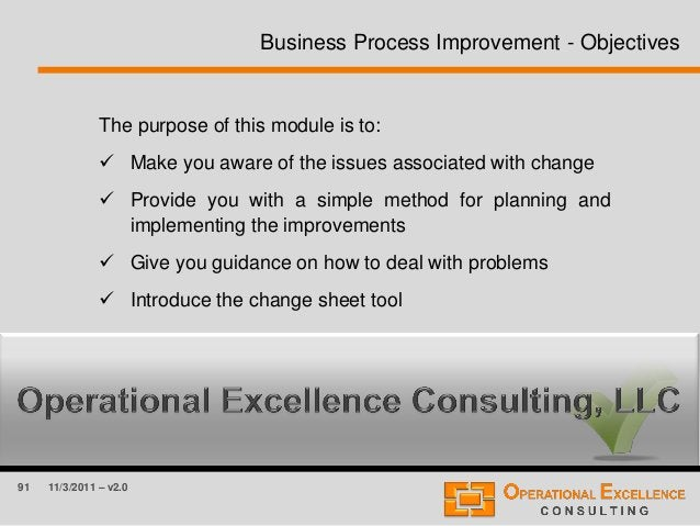 91 11/3/2011 – v2.0 The purpose of this module is to:  Make you aware of the issues associated with change  Provide you ...