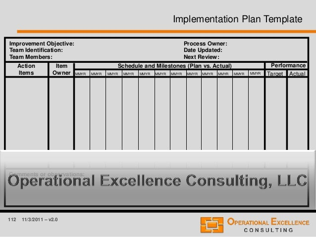 112 11/3/2011 – v2.0 Improvement Objective: Team Identification: Team Members: Process Owner: Date Updated: Next Review: A...