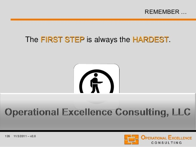 126 11/3/2011 – v2.0 REMEMBER … The FIRST STEP is always the HARDEST.