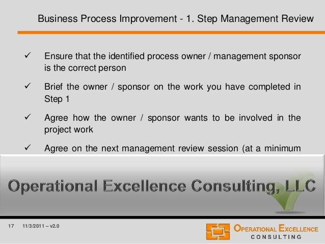 critical thinking and business process improvement