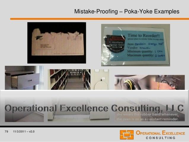 79 11/3/2011 – v2.0 Mistake-Proofing – Poka-Yoke Examples