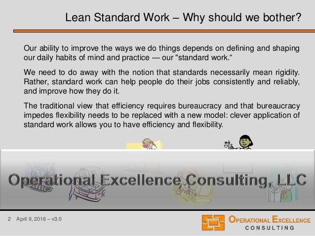 Lean Standard or Standardized Work Training Module Slide 2