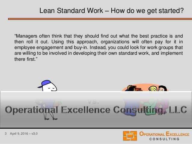 Lean Standard or Standardized Work Training Module Slide 3