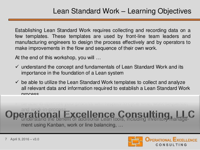 leader standard work template