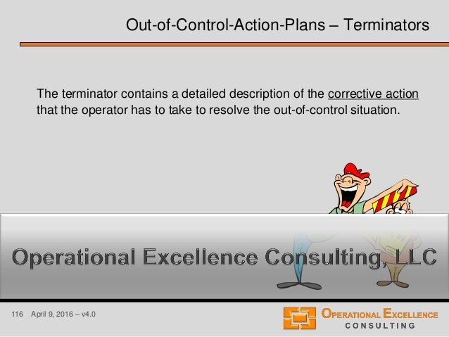 116 April 9, 2016 – v4.0 The terminator contains a detailed description of the corrective action that the operator has to ...