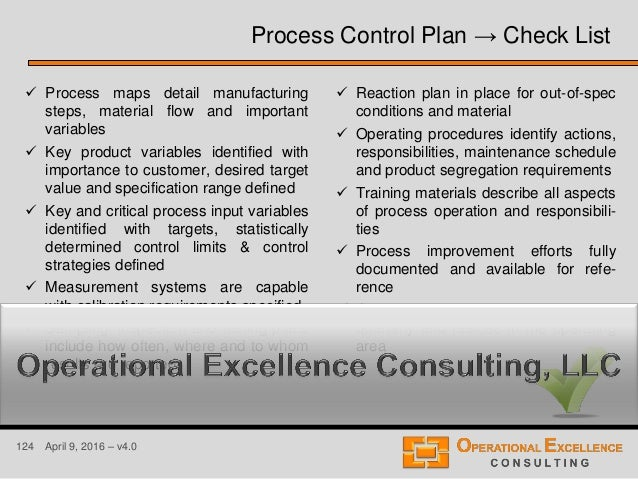 124 April 9, 2016 – v4.0  Process maps detail manufacturing steps, material flow and important variables  Key product va...