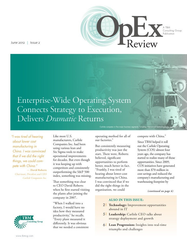 June 2012 | Issue 2                                                                   OpEx                                ...