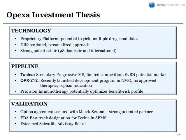 Opexa Therapeutics November Corporate Presentation