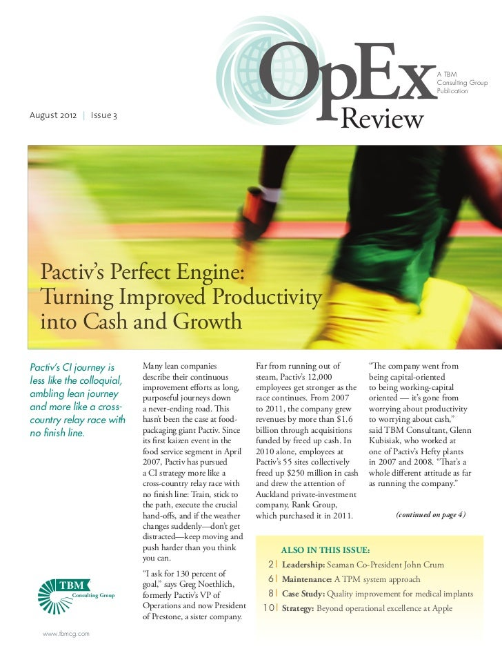 August 2012 | Issue 3                                                              OpEx                    Review         ...