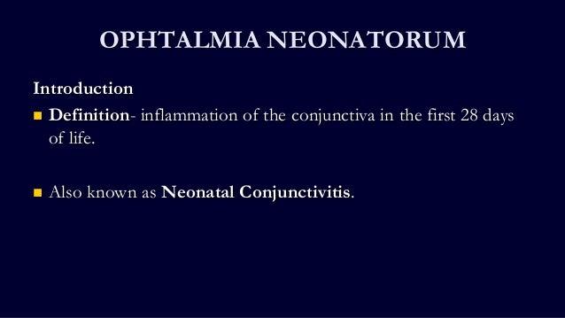 Ophthalmia Neonatrum