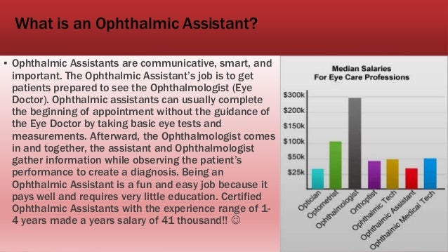 Ophthalmic assistant – Ophthalmologist Assistant