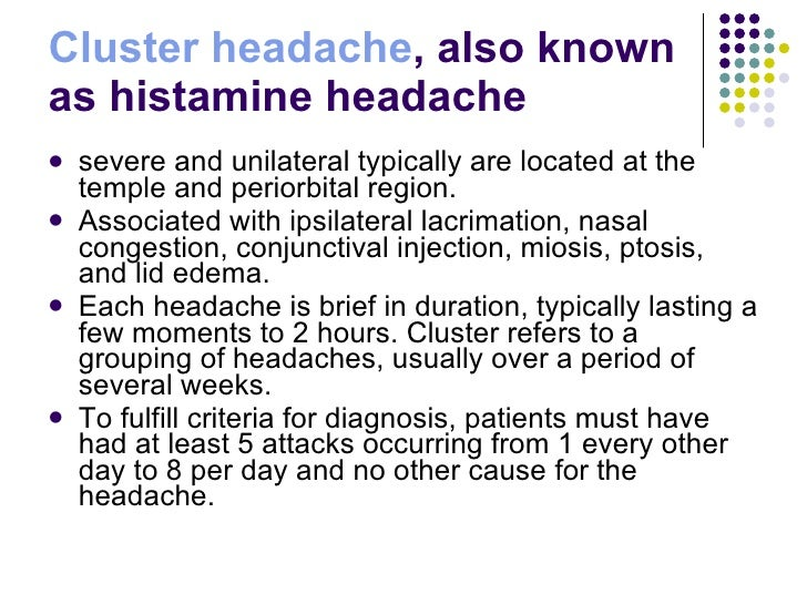 how to get cluster headaches