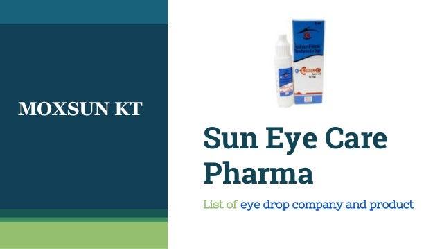 Ophthalmic Pharma Companies in India