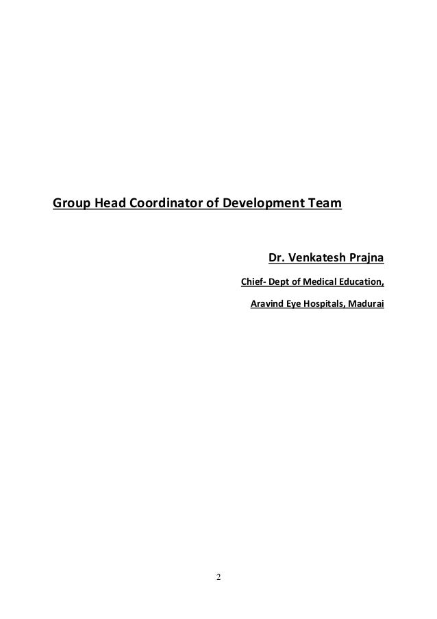 Ophthalmology treatment guidelines Govt of India