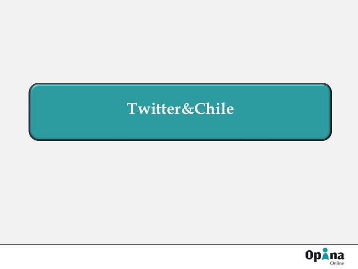 Twitter&Chile
