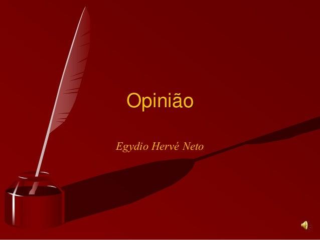 Egydio Hervé Neto Opinião