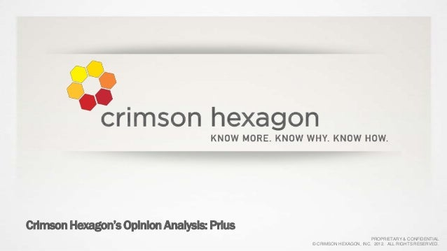 Crimson Hexagon's Opinion Analysis: Prius                                                                   PROPRIETARY & ...