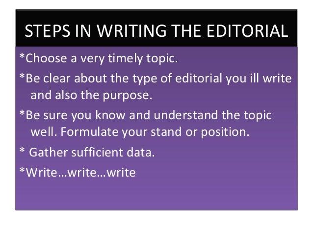 editorial essay topics