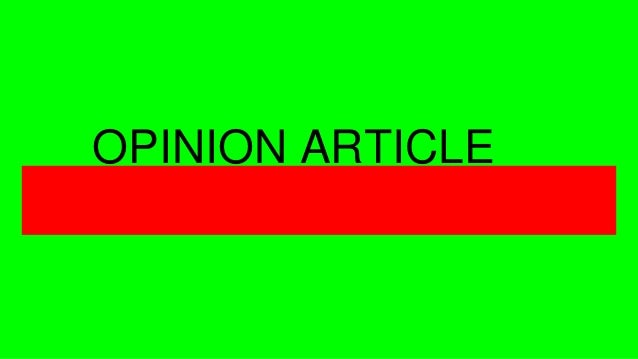 OPINION ARTICLE