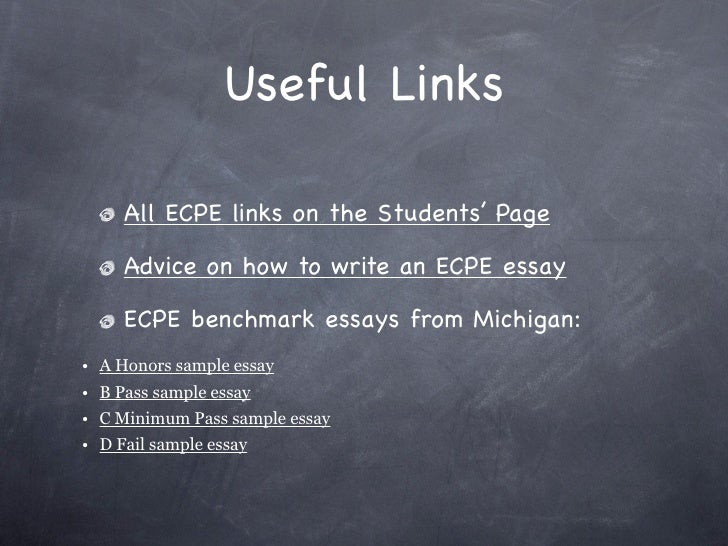 Essay Writing Advice (for ECPE and C2 EFL exams)