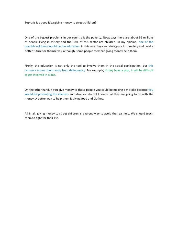 essay on childrens life